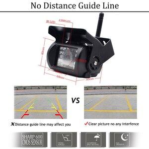 "Image 3 - Podofo 12V 24V kablosuz 7 ""HD TFT LCD araç yedekleme dikiz kamera monitörü + araba şarjı kamyonlar için otobüs RV römork ekskavatör"