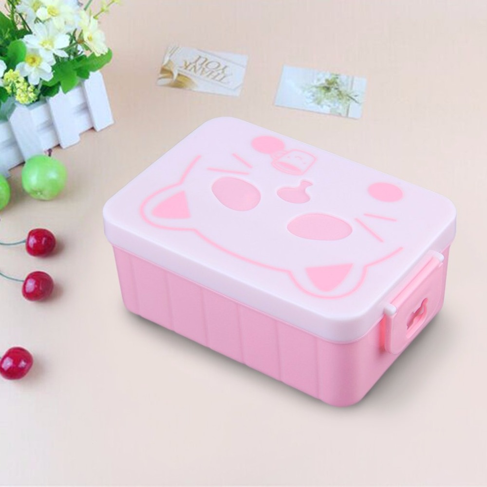 1000ml Double Layer Lunch Container Microwave Oven Bento Boxes Food Storage Container Lunchbox Large Capacity
