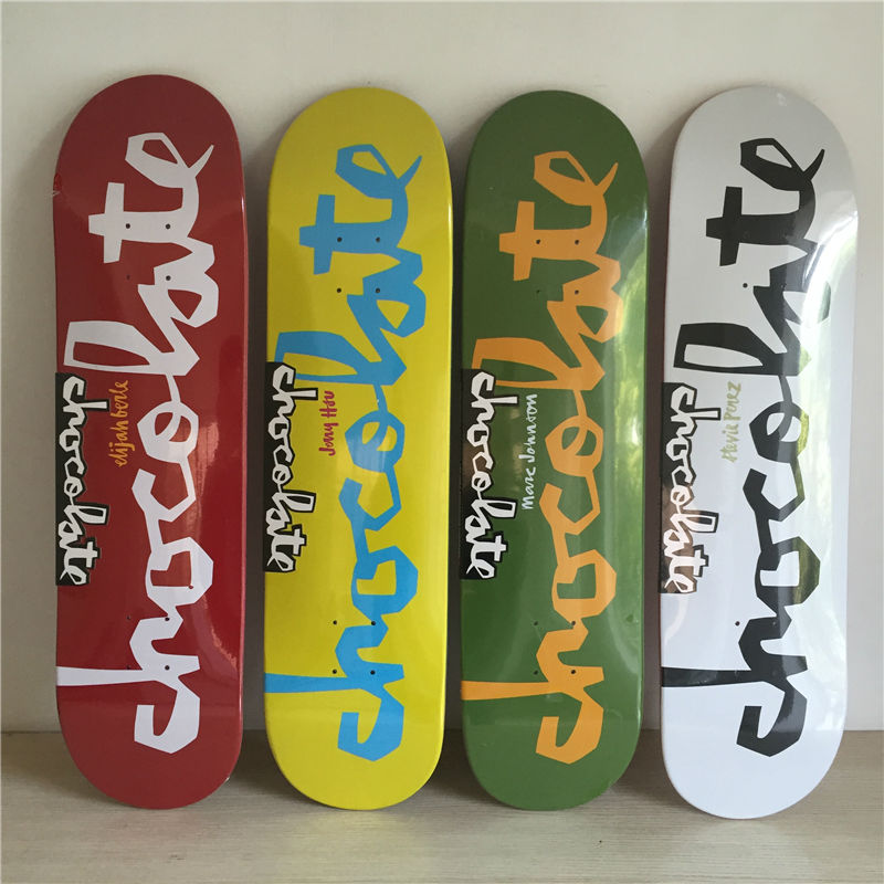 8 inch New Arrived CHocolate Decks Simple logo pattern made by Canadian Maple Wood Shape Skateboard deck for pro SK8ER