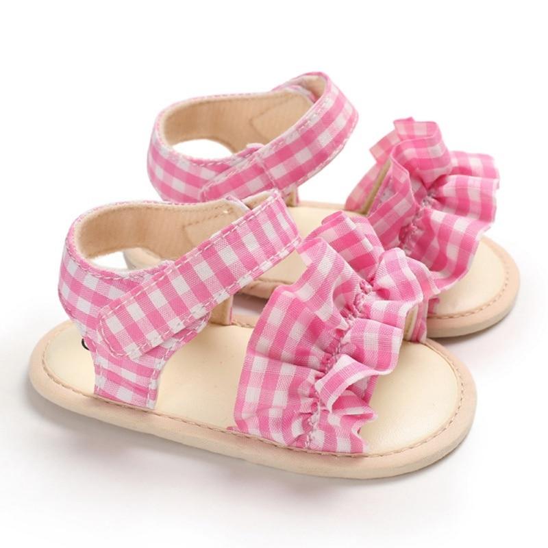 Baby Girl Sandals Summer Baby Girl Shoes Cotton Canvas Bow Baby Girl Sandals Newborn Baby Shoes Beach Sandal