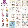 Sistema de desarrollo de CONOCIMIENTOS GRANDE CZ49-60 un juego (12 hojas) nail design sticker Agua decal Nail Stickers de Navidad de Dibujos Animados de Navidad accesorios