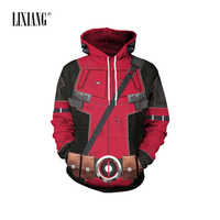 Lovers'Sanitary Clothes In Autumn and Winter To Keep Warm and Wear Leisure Loose Long Sleeve Top Masked Superman Dead Hoodies