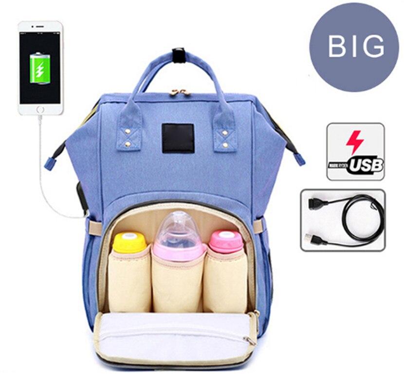 G-FAVOR Stor kapacitetsmummi Maternity Bag Nappy Blöja Barnväska - Handväskor - Foto 2