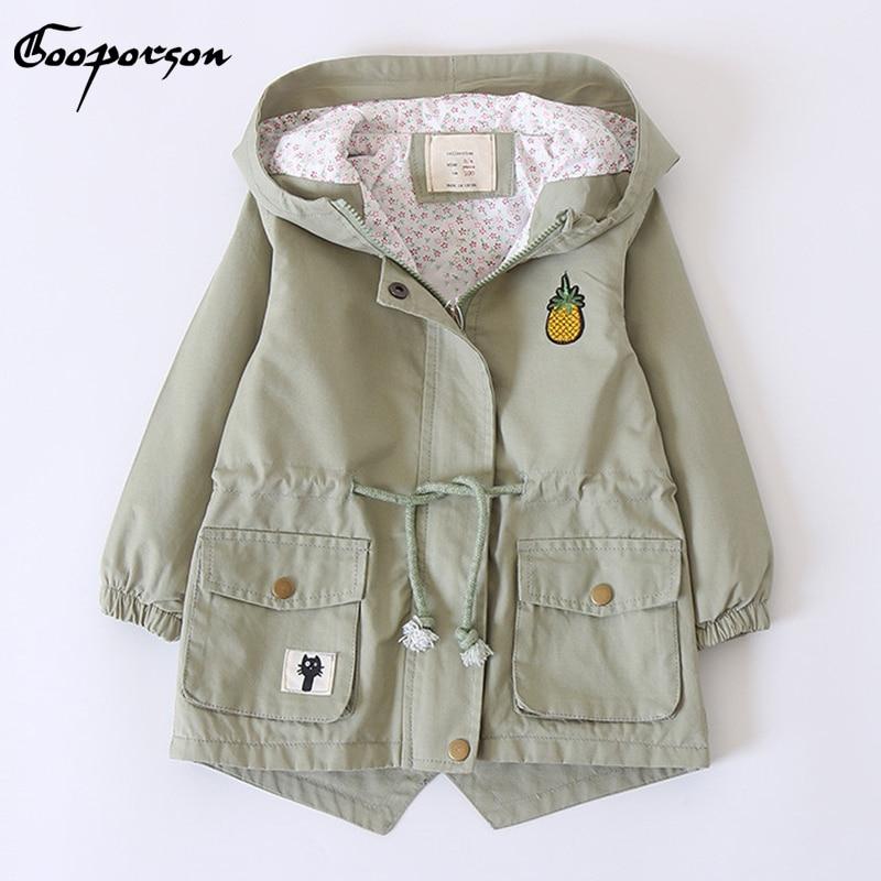 Girls Trench Coat 2018 Spring Autumn Girls Jacket For Girls Windbreaker For Girls Kids Outerwear Coat Children Clothes