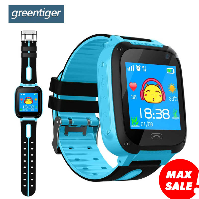 Greentiger Kids Smart Watch S4 Waterproof SIM Card Dial SOS Camera Children Smart watch for Baby safe Android IOS Phones Locator(China)