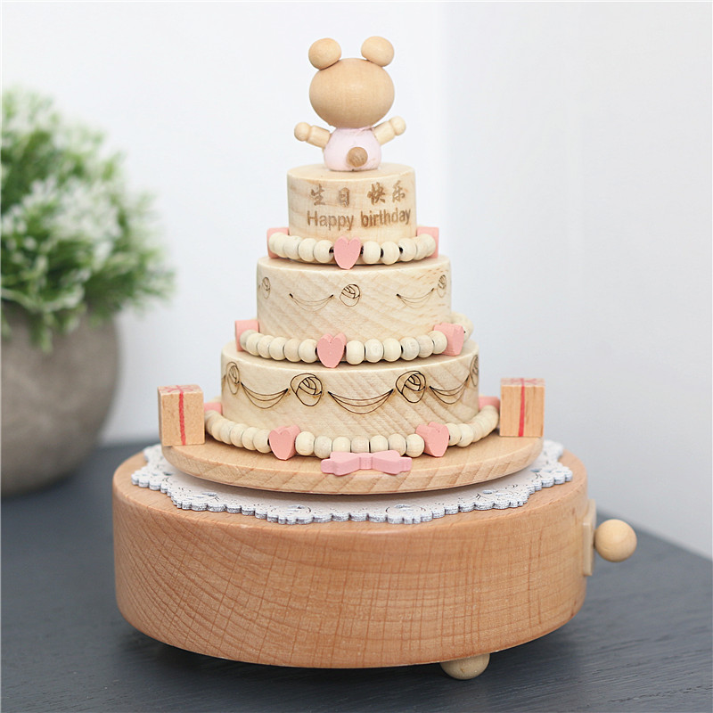 Happy Birthday Music Box Wood Ornaments Sent Her Gifts Of