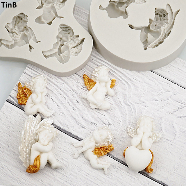 3D Baby Angel Silicone Mold Fondant Mould Cake Decorating Tool Chocolate Gumpaste Mold Sugarcraft Kitchen Accessories Soap Mould