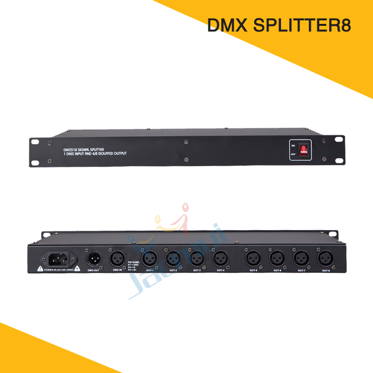 Hot Sale Dimmer 8 Routes Splitter Signal Distributor DMX Amplifier For Dj Stage EquipmentHot Sale Dimmer 8 Routes Splitter Signal Distributor DMX Amplifier For Dj Stage Equipment