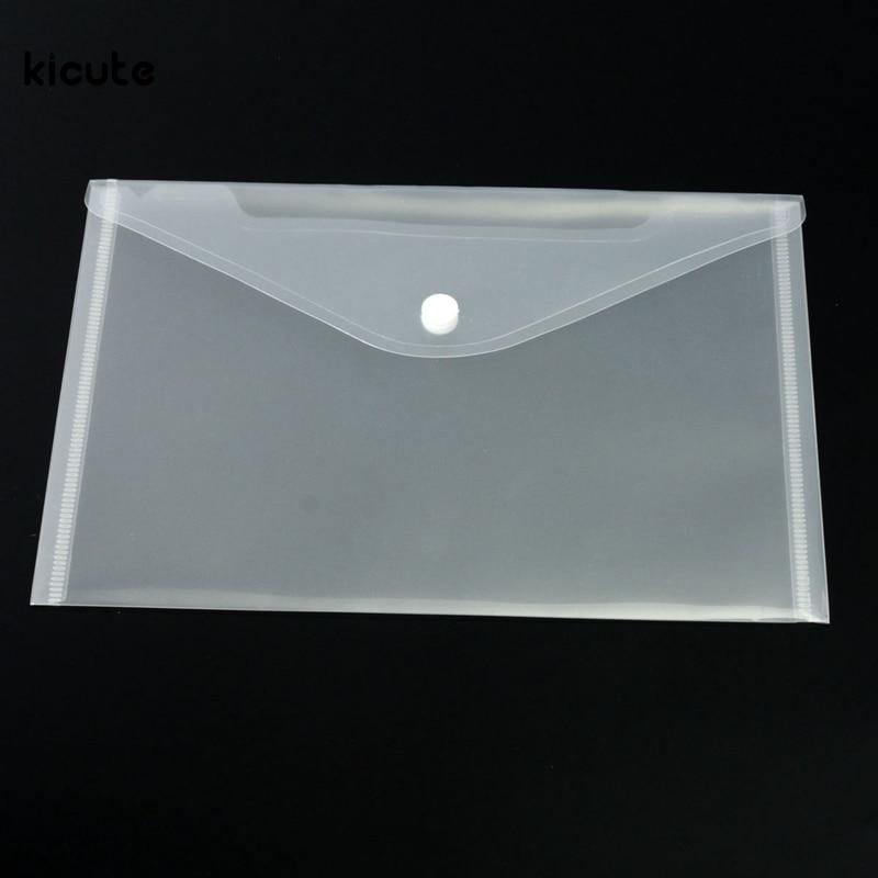 12pcs/lot Great Transparent Plastic A5 Folders File Bag Document Hold Bags Folders Filing Paper Storage Office School Supplies
