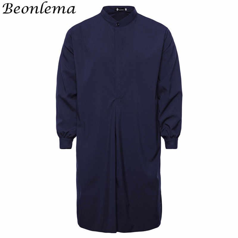 Beonlema мусульманский Homme tobe Исламская одежда хлопок длинная рубашка черный арабский Jubah кафтан марокканский исламский мужской мусулман абайя