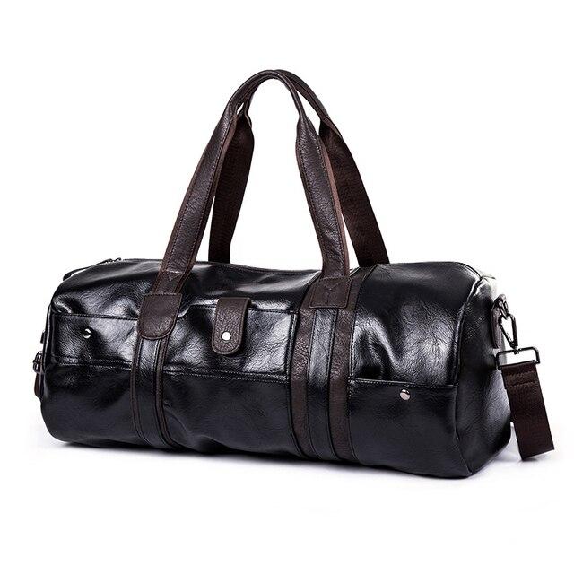 f89de7e3796 Brand Vintage Retro Leather Men Travel Bag Casual Luggage Overnight Handbag  Designers Large Capacity Duffle Bag Male Weekend Bag