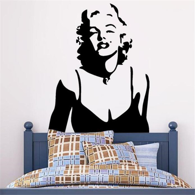 IDFIAF Marilyn Monroe Wall Decor Red Lips Wall Stickers Home Decoration  Wall Decals Decorative Living Room