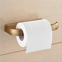 SRJ Copper Toilet Paper Holder European Antique Bathroom Round Bottom Storage Rack Retro