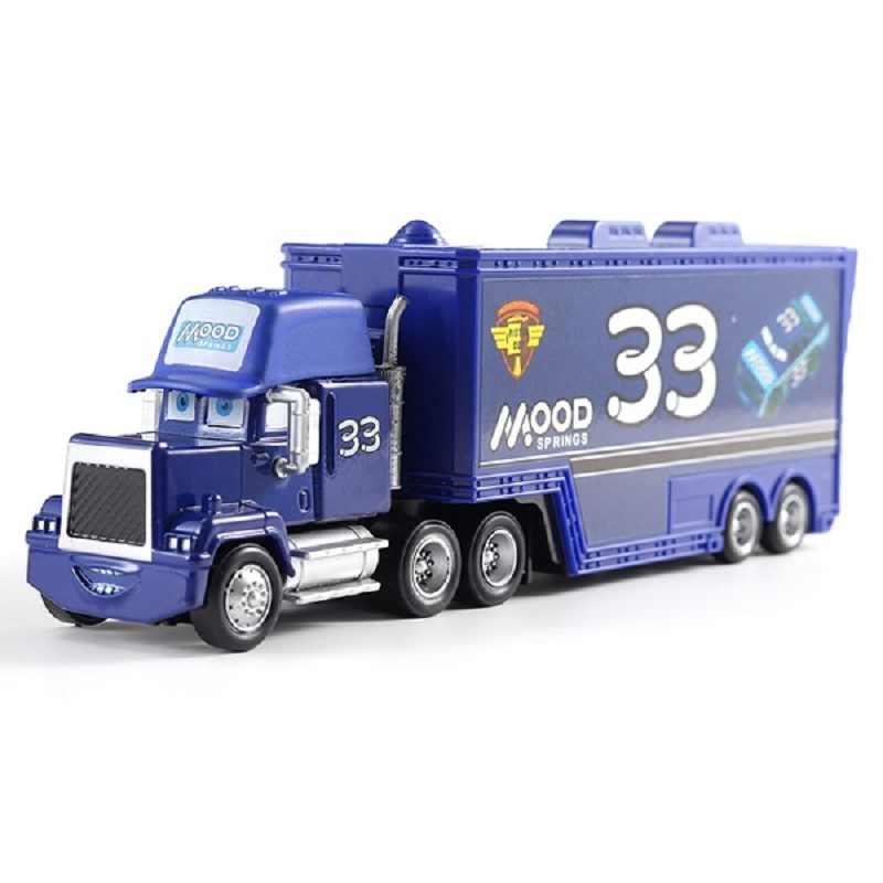 Disney машинок пиксара и с рисунками из мультфильма «Тачки 2 3 игрушки Lightning McQueen № 33 грузовиков Mack дядя грузовик, отлитый под давлением 1:55 Свободные игрушечный автомобиль Новое на складе