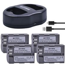 4X Haute Capacité EN-EL3E EN-EL3e ENEL3E EN EL3E Batteries et Chargeur Double USB pour Nikon D50 D70 D80 D90 D100 D200 D300 D700 z1