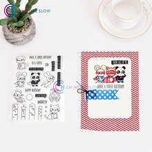 CH superhero stamp Clear Stamp for Scrapbooking Transparent Silicone Rubber DIY Photo Album Decor