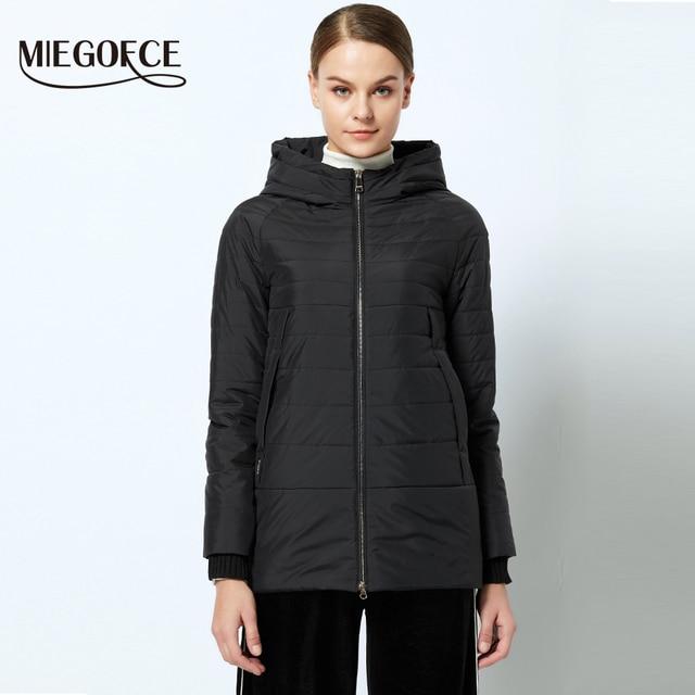 Новая Весенняя-Oсенняя высококачественная куртка 2018 MIEGOFCE женский жакет женская тонкая хлопчатобумажная куртка