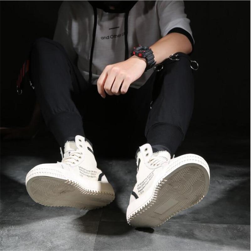 Hommes High Arrivent Dentelle Superstar up De Nouveau Hiver Casual Homme En Avant Top 1 Causalité Bottes Cuir Automne Chaussures 2 Cheville Toile qa58WWdSw
