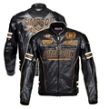 Free shipping 1pcs Men Waterproof and Warm Motorcycle PU Jacket Motorcycle Leather Jacket with Protective Gear