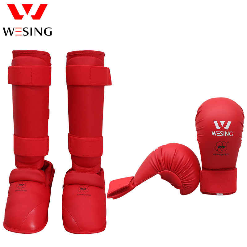 Wesing Karate Shin and Intep Guard Karate Gloves Karate Equipment For Competition WKF Approved