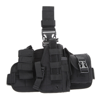 Hunting Accessory 600D Nylon Molle Quick Detach Drop Leg Holster With MOLLE Debris Pouch Holder