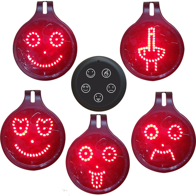 DIY Car Rear Window infrared Remote Control Car led Expression lamp five kinds of patterns Volkswagen/Honda/Toy/  SUV