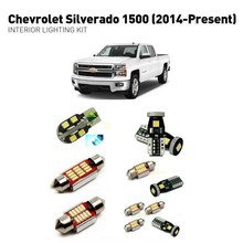 цена на Led interior lights For Chevrolet silverado 1500 2014+ 12pc Led Lights For Cars lighting kit automotive bulbs Canbus