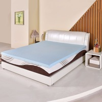 Goplus 3/7.6cm Gel Antimicrobial Memory Foam Mattress King Size/Queen Size Bed Mat Pad Topper Blue Bed Cooling Mattress HT0969