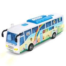 Модель городского автобуса электронного моделирования Пластик детские игрушки детей Diecast АВТОМОБИЛЯ легкие звучит развивающие игрушки подарок для детей