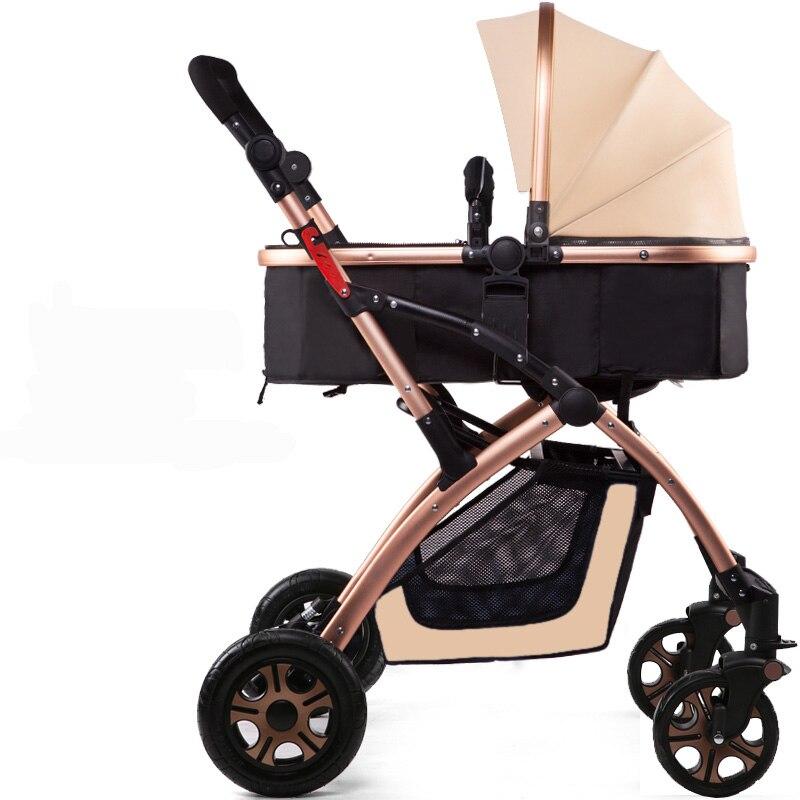 цена Inflate wheels 0~36 month baby use baby stroller baby car light suspension folding child baby stroller 4 colors онлайн в 2017 году