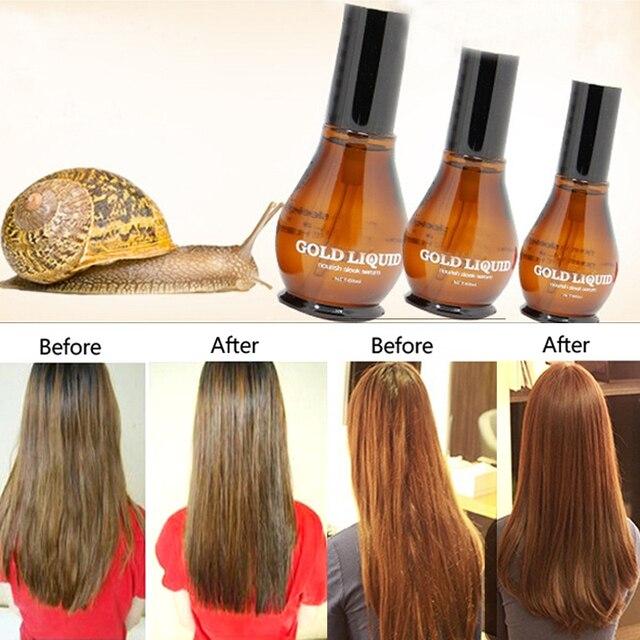 100 чисто улитка экстракты волос масло Улучшить завивают гладкой простыня суть уязвимости сплит Ухода За Волосами 60 мл A2