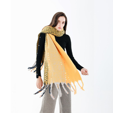 Sparkling Winter Scarf For Women 2018 Cashmere Tassel Shawl Pashmina Ladies Striped Hot Selling