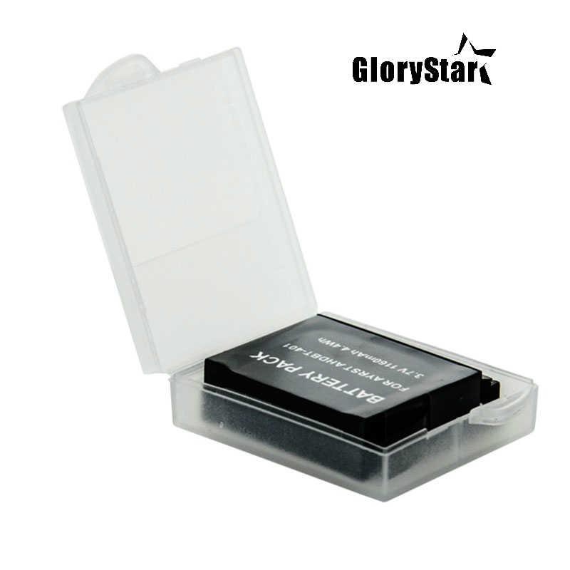 2 шт. Go Pro Батарея защитная коробка для хранения Дело для GoPro Hero 6 5 4 сеанса Xiaomi Yi MiJia 4 К экен H9 Камера аксессуары сумка