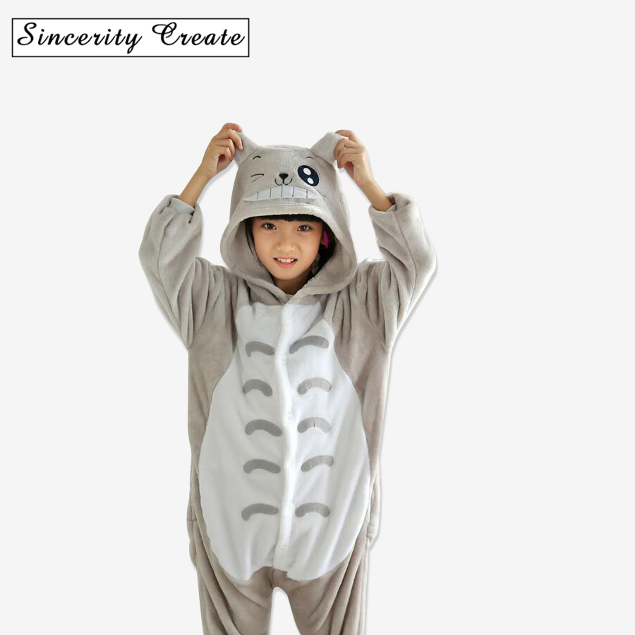 цена Cute Cartoon Baby Boys Girls Pajamas Kigurumi Panda Flannel Animal Blanket Sleeper cartoon Pajamas for Kids pijamas KU-1523