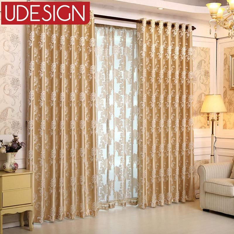 2015 Luxury Europe Jacquard Thick Blackout Curtains For Living Room The Bedroom  Window Treatments Shades Panels Drapes Blinds In Curtains From Home U0026  Garden ...