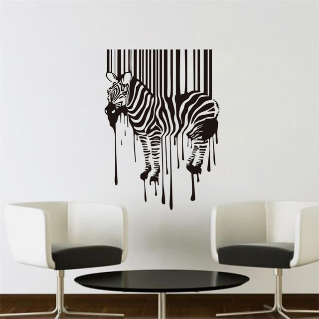 Zebra Wall Sticker Qr Code Horse Vinyl Art Mural Home Decor Funny Wall  Deciration Accessories For