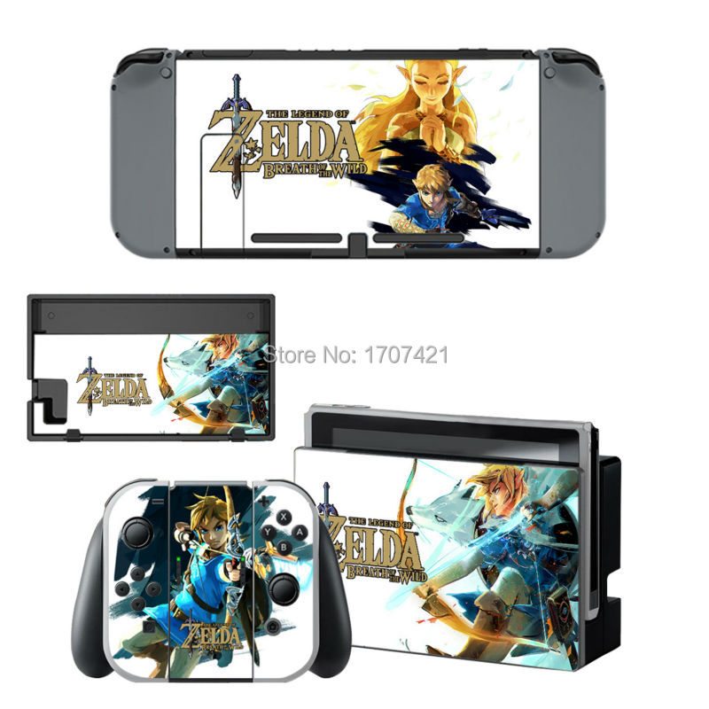 Fit for nintendo switch ns protective sticker cover skin for Housse zelda nintendo switch