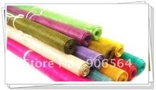 Sinamay 21 colores para hacer accesorios para el cabello, material de lino bonito, fascinator, 4 colores/lote, 2 metros/lote
