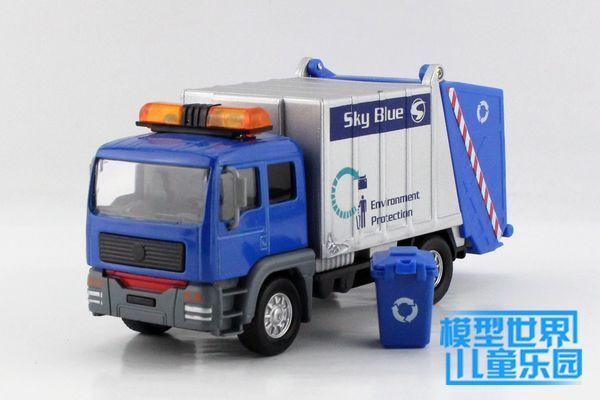 1 PC 14.5cm Model car clean up the garbage truck Electronic back to clean the car Children's toys children gifts