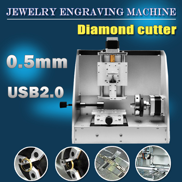 Small Cnc Inside And Outside Ring Engraving Machine Nameplate Photo Engraving Machine
