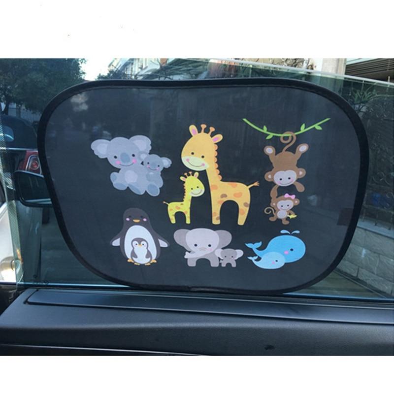 2pcs 44*36 Cm Car SunShade Side Window Windscreen Roof Window For Children Adults Adsorption SunShade Cover