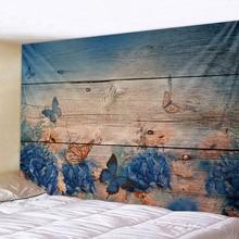 XIANYUNHE 3D Butterfly Flower Print Tapestry Mandala Tapestry Boho Round Beach Towel Toalla Sunblock Blanket Bohemian Yoga Mat цена