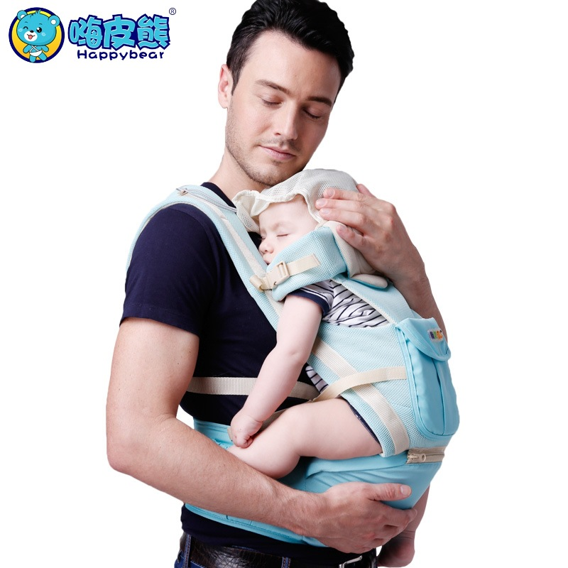 Happy Bear Cotton 0-48 Months Multifunctional Back Front Facing Baby Carrier 2 In 1 Ergonomic Baby Sling 4 Seasons Kangaroo купить в Москве 2019