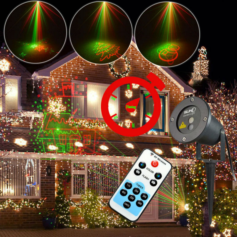 Rg Snowflake Projector Light Remote Control 8 Patterns