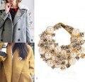 Корейской Моды имитация pearl кристалл корсаж брошь pin женский профессиональный шарф пряжки воротник Пряжки
