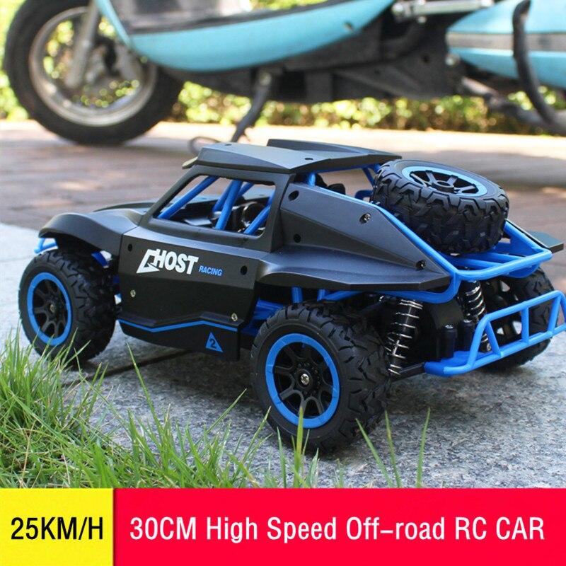 Oyuncaklar ve Hobi Ürünleri'ten RC Arabalar'de 1/18 RC Araba Yüksek Hızlı Off road Sürüklenme Buggy 2.4 GHz Radyo Uzaktan Kumanda Yarış Araba Modeli Kaya Paletli araç Oyuncak Çocuklar için Çocuk'da  Grup 1