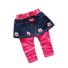 High quality! Baby bottoming culottes 2016 spring and autumn new cotton fashion sweet flowers 0-2 years old baby girls pants
