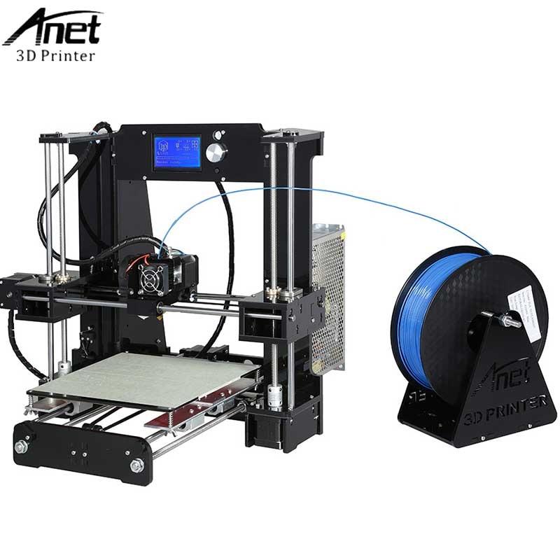 High Precision Anet A6 3D Printer Big Size 220*220*250MM Reprap i3 DIY 3D Printing Machine+Hotbed+Filament+SD Card+LCD Video