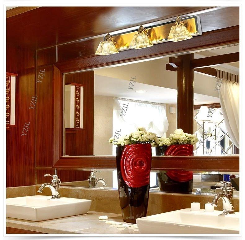 Continental luxury LED Crystal mirror lamp miror front lamp bathroom ...