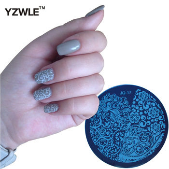 YZWLE 1 PC DIY Nail Art Lace Flower Stencils Stamping Template Printing Image Plates (JQ-17)